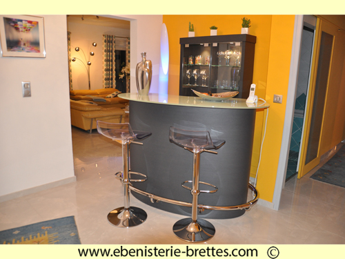 bar contemporain gris meuble design