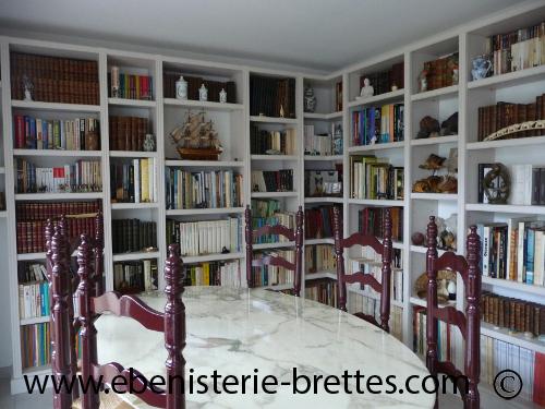 Préférence Bibliotheque moderne sur mesure à La Baule prés de Nantes en Pays  ON23