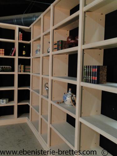 bibliotheque moderne sur mesure la baule pr s de nantes en pays de la loire ebenisterie brettes. Black Bedroom Furniture Sets. Home Design Ideas