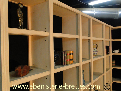 bibliotheque moderne sur mesure la baule pr s de nantes en pays de la loire ebenisterie brettes. Black Bedroom Furniture Sets. Home Design Ideas
