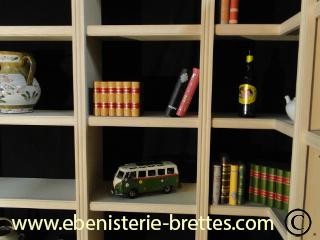 Bibliotheque Moderne Sur Mesure La Baule Pr S De Nantes En Pays De La Loire Ebenisterie Brettes