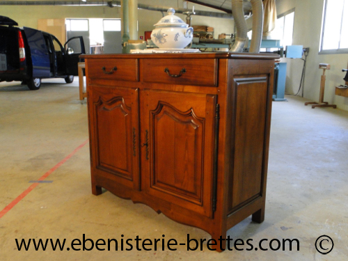 Creation de meubles sur mesure buffet style louis quinze for Meuble deux portes bois