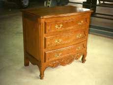 commode 3 tiroirs louis 15 en merisier