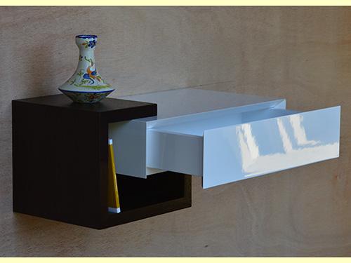 console d 39 entree rangement cl s laqu e et bois wenge ebenisterie brettes. Black Bedroom Furniture Sets. Home Design Ideas