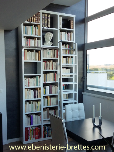Meubles 64 creation de mobilier portes et placards sur mesure ebeniste 40 su - Bibliotheque blanche laquee ...