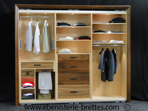 dressing noyer erable ebenisterie brettes. Black Bedroom Furniture Sets. Home Design Ideas