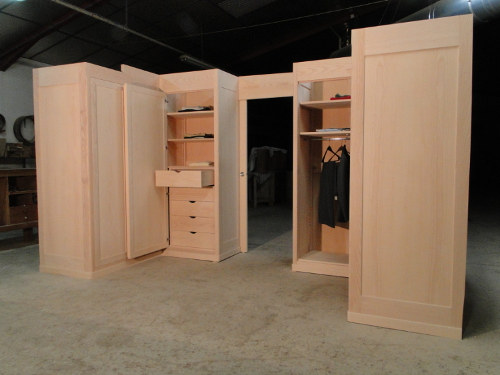 dressing sur mesure amenagement chambre. Black Bedroom Furniture Sets. Home Design Ideas