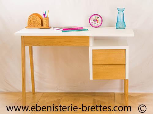 Meuble bureau scandinave vintage ebenisterie brettes