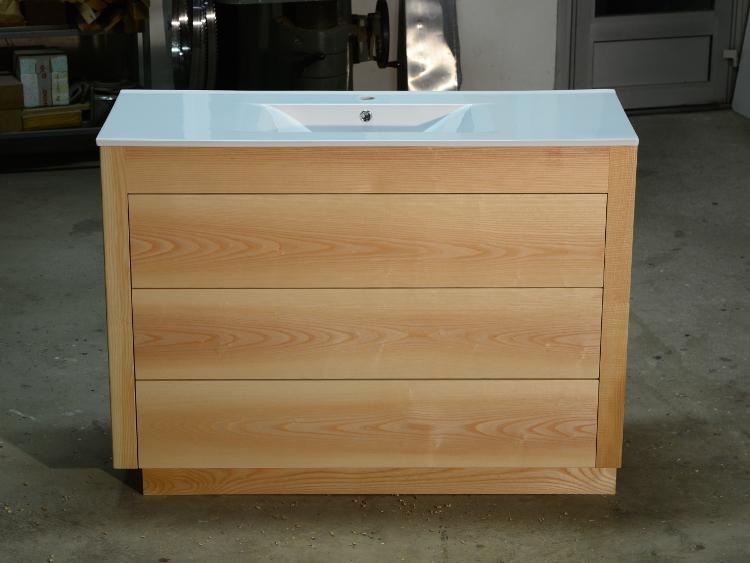 meuble salle de bain bois moderneebenisterie brettes