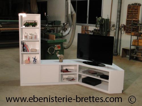 Meuble Tv Colonne Etagere Ebenisterie Brettes