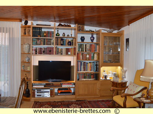 meuble television louis philippe ebenisterie brettes. Black Bedroom Furniture Sets. Home Design Ideas