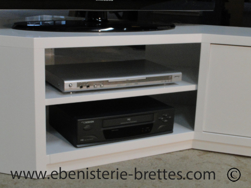 meuble tv bois et blanc pas cher. Black Bedroom Furniture Sets. Home Design Ideas
