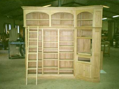 meuble television bibliotheque en bois massif dax ebenisterie brettes. Black Bedroom Furniture Sets. Home Design Ideas