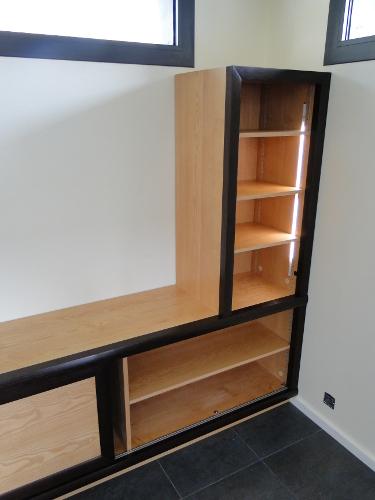 Fabrication d 39 un meuble tv et rangements moderne anglet for Mobilier anglet