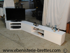 Meuble de t l vision sur mesure design contemporains et - Meuble d angle tv design ...