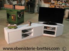 meuble de télévision sur mesure design, contemporains et de style ... - Meuble Tv Angle Design