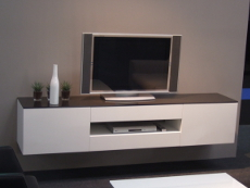 meuble de t l vision sur mesure design contemporains et de style meuble tv ebenisterie brettes. Black Bedroom Furniture Sets. Home Design Ideas