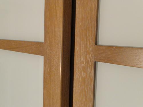 Fabricant Dune Façade De Placard En Chene Et Verres Blancs Au - Porte placard coulissante et porte en bois moderne