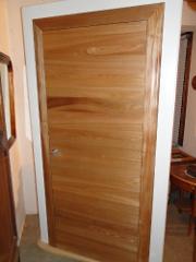 Portes interieur bois sur mesure ebenisterie brettes - Porte interieur contemporaine ...