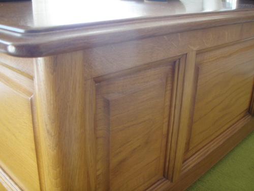 Table basse en ch ne massif sur mesure lescar pr s de pau dans le b arn ebenisterie brettes - Table basse rustique chene massif ...