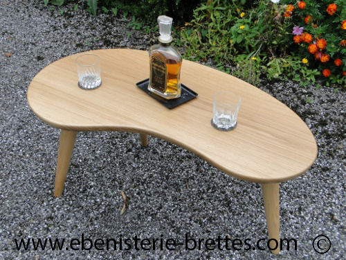 table design en bois massif courbe sur mesure fabriqu e pour saint jean de luz au pays basque. Black Bedroom Furniture Sets. Home Design Ideas