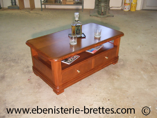 Table basse en bois massif sur mesure pour un client de for Table basse sur mesure