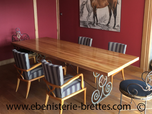 fabricant de table rectangulaire de repas au pays basque ebenisterie brettes. Black Bedroom Furniture Sets. Home Design Ideas