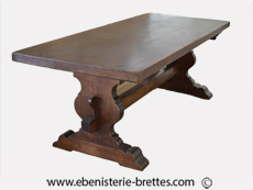 table monastere bois chene